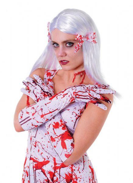 Bloody Gloves Bleeding Wound Vampire Fancy Dress Accessory